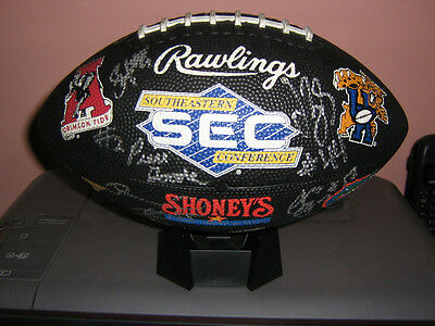 Autographed Football NCAA SEC Logo  RARE Not Authenicated