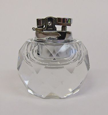 * Vintage * Crystal/Gem Style Clear Glass Table Lighter * Made In Japan *