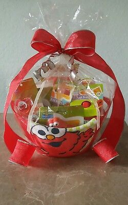Baby Gift Set Basket,Elmo Sesame Street-Baby Shower Gift Set,Elmo Baby Gifts