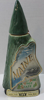 Jim Beam Decanter Bottle ~The Great State Of Maine ~Vintage 1970 Epmty