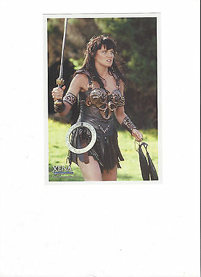 XENA 5 x 7 FAN CLUB KIT #12 photo / litho ~ Sword in hand ~ Lucy Lawless