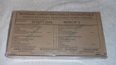 Mre French Army Military/nato 24 Hour Ration Pack Rcir Camping Sealed Box Menu 3