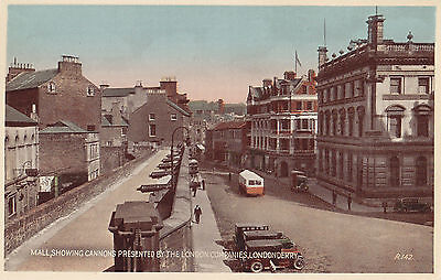 Mall showing Cannons LONDONDERRY Northern Ireland Valentine ® 1935 Postcard R142