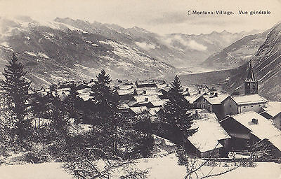 Village MONTANA Suisse Carte Postale Ancienne G. Werro-Hall Photo Switerzland