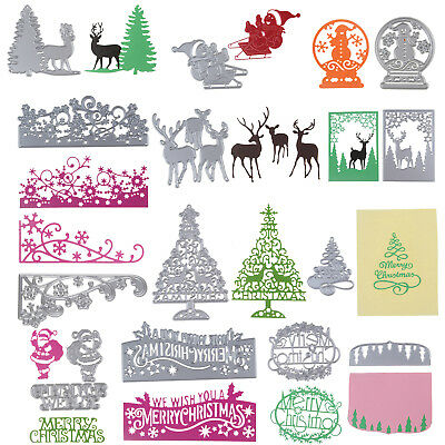 1xMetal Cutting Dies Merry Christmas Style Stencil Scrapbook Embossing DIY Craft