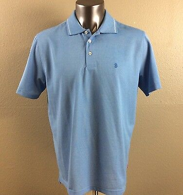 9e5e282fcb9321 IZOD Men s Large Blue Golf Polo Rugby Embroidered Logo