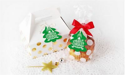 20PCS Merry Christmas Xmas Tree Cardboard Tag Party Gift Decor Red / Green