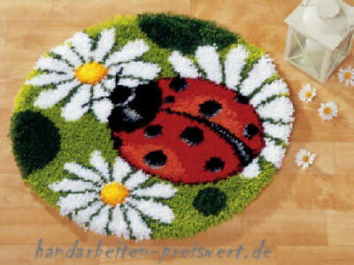Vervaco Knotted Carpets Carpet shape round Ø 55 cm LADYBIRD Children knot