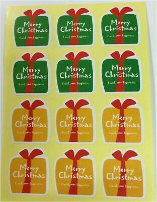 30X Silver Merry Xmas Sticker / Label / Cookie Bag Sealer Party Gift Decoration