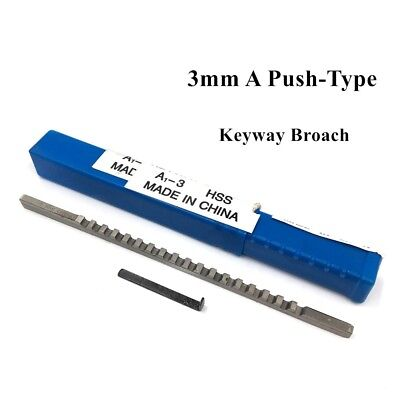 CNC Machine Tools 3mm A Push-Type Keyway Broach Cutter Cutting HSS Metric Size