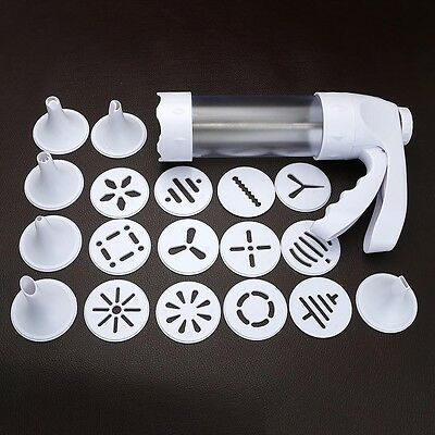Household Cookie DIY Press Set Biscuit Gun with 12 Decorating Mould & 6 Nozzles