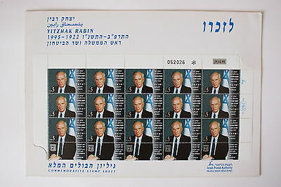 Yitzhak Rabin Day Of Issue Stamps