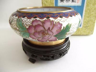 "4"" HAND MADE CLOISONNE BOWL - boxed"