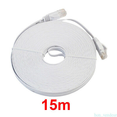 Brand New 10m/15m CAT6 Cable Ethernet Lan Network CAT6 RJ45 Patch Cord Internet