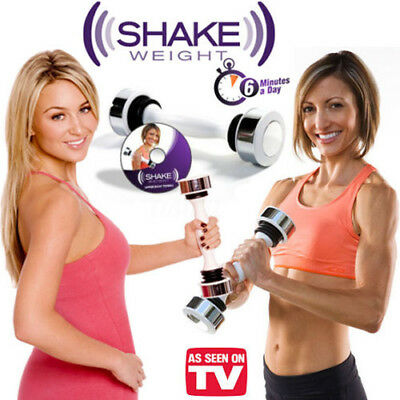 Women Lady Fitness Exercise Home/Outdoor Gym Dumbbell Shake Weight+DVD Set