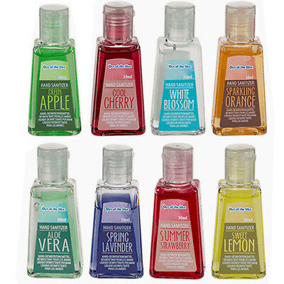 Set Of 8 Scented Fragrance Anti Bacterial Hand Sanitizer Pocket Gel Hygiene 30Ml
