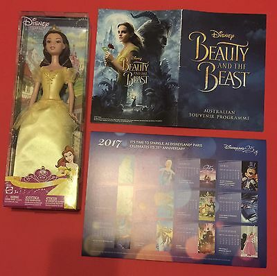 Disney's Live Action Beauty and the Beast 2017 Program, Belle Doll and Calendar