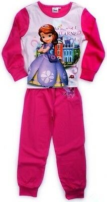 Girls Age 4 Years Pyjamas Pjs New Box Sofia The First Disney Pink Cotton