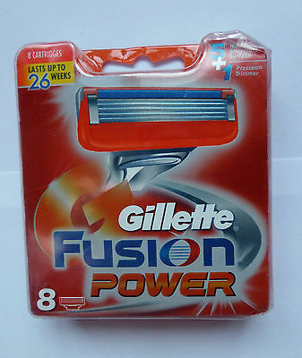 Gillette FUSION POWER blades 8 cartridge pack (7702018852529)