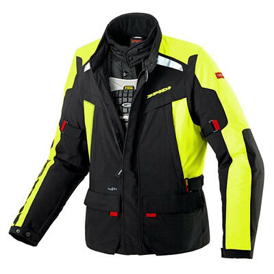 Spidi H2Out Super Hydro Hi Viz Fluo Yellow Mens Motorcycle Waterproof Jacket