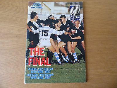 Rugby World Cup 1987 final programme excellent condition