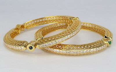 Real Look Indian jewelry beautiful pair of bangle bracelet AD Traditional women