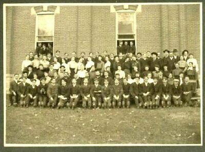 1905 Manchester College Group Photograph Backing Board North Manchester Indiana