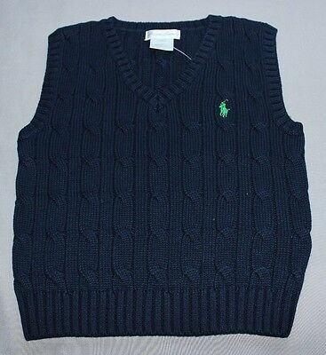 Ralph Lauren Vest Blue size 1 18M BNWT Authentic