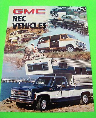 1976 GMC REC VEHICLES DLX COLOR CATALOG Camper PICK-UP Van SUBURBAN 4WD Xlnt+