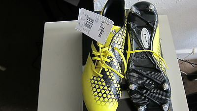 REDUCED BNIB Adidas Incurza SG yellow / black rugby boots with key RRP £64.99