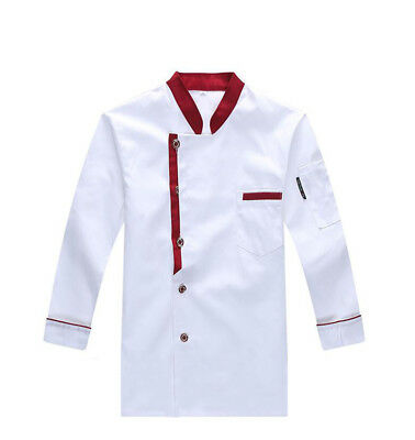 Chef Jacket Coat Chef Long Sleeve Unisex Cooker Work Restaurant Hotel Uniform