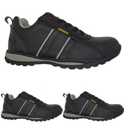 Ladies Ultra Light-Weight Plastic Toe Cap Safety Women Lace Up Work Shoe Trainer