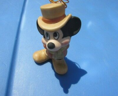 Disney Mickey Mouse Porcelain Ceramic Christmas Ornament Figurine 1950s Japan