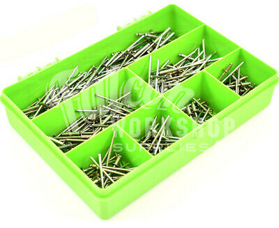 300 ASSORTED PIECE, 4.8mm A2 STAINLESS POP RIVETS OPEN BLIND DOME HEAD KIT