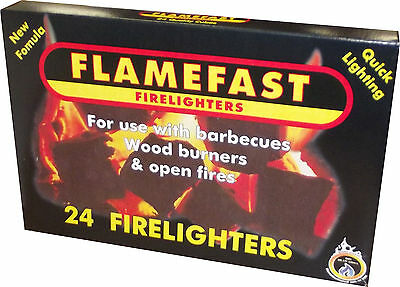 Flamefast Firelighters pack of 24 cubes  For Fires Log burners & Stoves