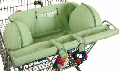 Leachco Prop 'R Shopper Shopping Cart Cover Green Pin Dot