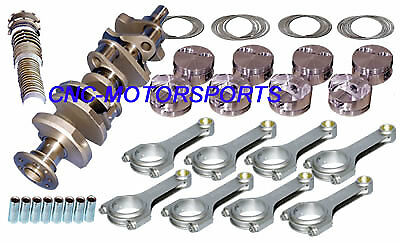 12013 Eagle Rotating Assembly Mahle Flat Top Pistons 6 Rod SB Chevy 396 2 pc
