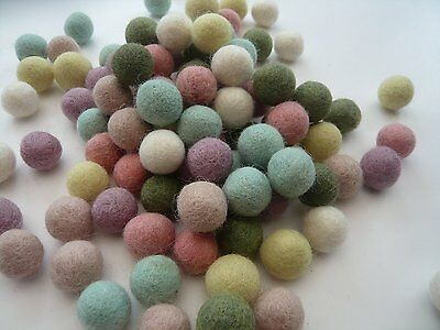 2 cm / 20 mm Assorted Color Mix Pom Pom felt Balls Nursery Craft beads Supplies
