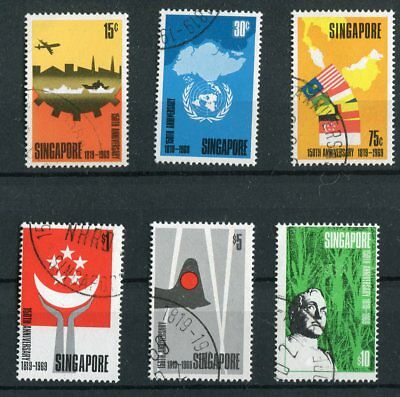 Singapore QEII 1969 150th Anniversary of Founding SG121/26 fine used