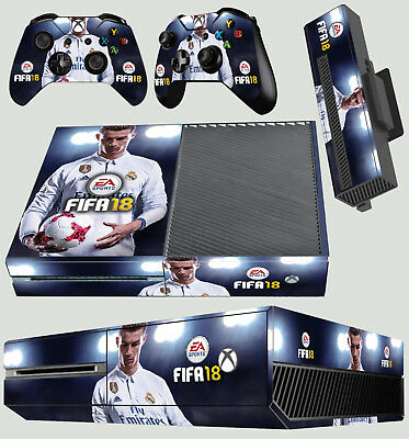 Xbox One X Fifa 18 Skin Sticker Console Decal Vinyl Xbox Controller Faceplates, Decals & Stickers Video Games & Consoles