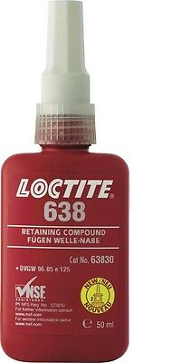 LOCTITE 638 RETAINING COMPOUND 50ml - NEW