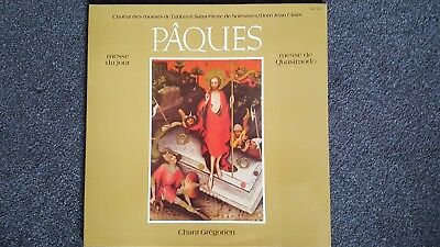 Chant Gregorien - Paques - Vinyl -  French Pressing - S622- 1980.
