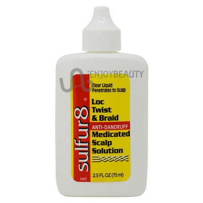 Sulfur8 Loc Twist & Braid Medicated Scalp Solution 2.5oz w/Free Nail File