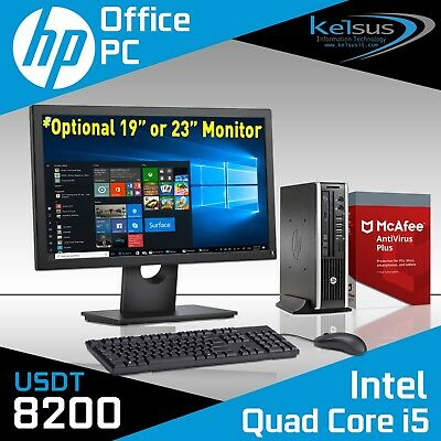FAST Cheap Quad Core i5 Office PC HP Desktop Computer 1TB 8GB Windows 10 Monitor