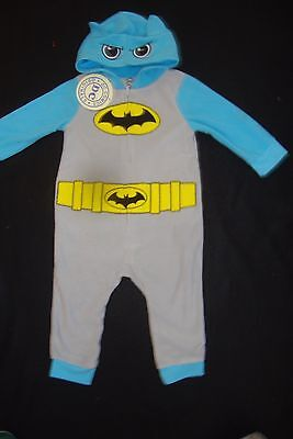 Batman  Fleece Hooded  Romper  Nwts