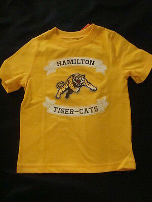 HAMILTON TIGER CATS   CFL TODDLER GRAPHIC TEE SHIRT NWTS size 3