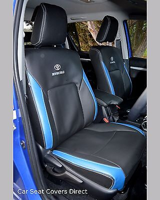 Marvelous Toyota Hilux 7Th Gen Waterproof Tailored Grey Leatherette Short Links Chair Design For Home Short Linksinfo