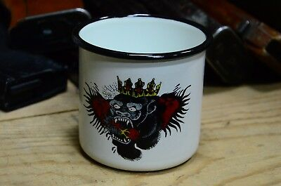 Russian, Soviet Metal Enameled Cup Mug, The Connor Mcgregor Tattoo