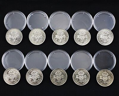Run of George VI Two Shilling/Florins 1937-1946 (10 in total) - MINT/UNC (NZ111)