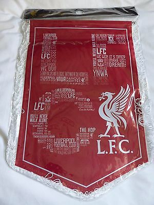 Liverpool Famous Quotes/ Sayings Large Red Pennant - Brand New